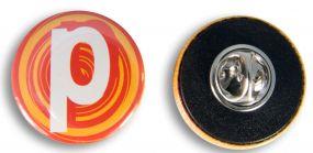 Button mit Nadel 25 mm inkl. 4c-Werbedruck als Werbeartikel