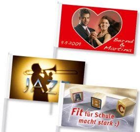 Papierfahnen 15 x 21 cm als Werbeartikel