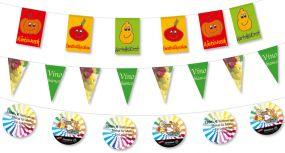 Wimpelketten aus Spezialpapier, 4-farbig als Werbeartikel