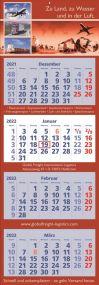 4 Monats-Wandkalender Classic 4, deutsch als Werbeartikel