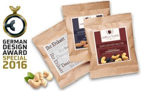 Premium Snacks Flowpack als Werbeartikel