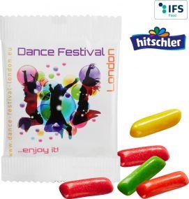 Mini HITSCHIES Kaubonbons Mix im konventionellen Folientütchen als Werbeartikel