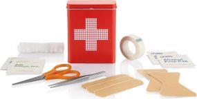 Erste Hilfe Zinnbox als Werbeartikel