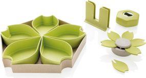 4-tlg. Küchenset aus Weizen als Werbeartikel