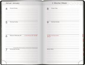 Taschenkalender Modus XL blackline als Werbeartikel