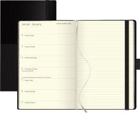 Buchkalender Times Big12 blackline als Werbeartikel