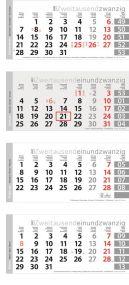 4-Monats-Planer Trend als Werbeartikel