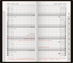 Taschenkalender Pluto Tab Wechselhülle blackline als Werbeartikel