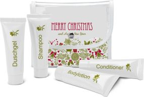 Wellness-Pflegeset, 5-teilig - Merry Christmas als Werbeartikel
