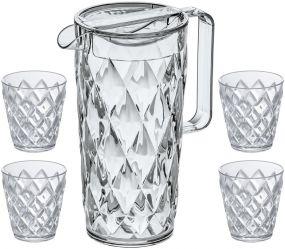 Präsentset Karaffe und Becher Crystal als Werbeartikel