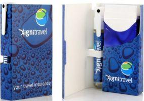 Travelbox Handdesinfektionsspray SaniStick als Werbeartikel