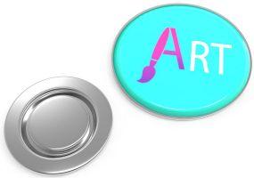 Metal Pin rund mit Magnet als Werbeartikel