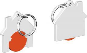 Chiphalter mit 1-Euro-Chip Haus als Werbeartikel
