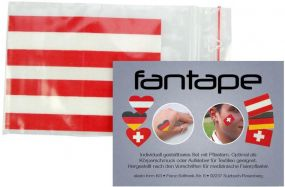 Fantape Rechteck 4er-Set Österreich als Werbeartikel