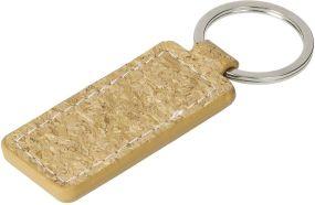 Schlüsselanhänger Kork, eckig