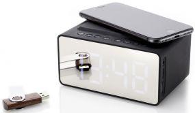 Prime Time Wireless Charger Digitaluhr als Werbeartikel
