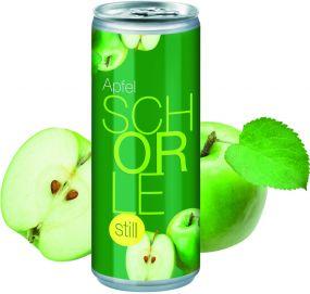 Apfelschorle still in der Dose, Smart Label (pfandfrei)
