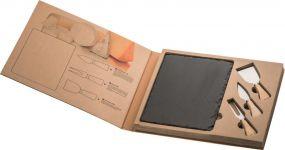 Schieferplatte Formaggio mit Käsebesteck