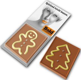 Schokoladenspiel Mann und Baum als Werbeartikel