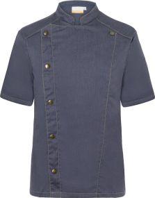 Kurzarm Kochjacke Jeans-Style als Werbeartikel