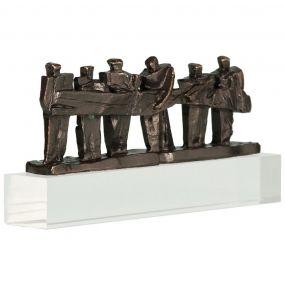 Skulptur Zusammen die Sache auf die Beine stellen