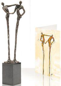 Skulptur Der Händedruck