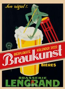 Kalender Braukunst Bierplakate 2021 als Werbeartikel