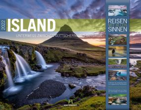 Kalender Island 2021 als Werbeartikel