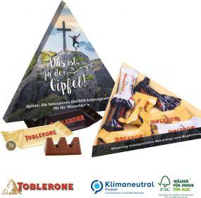 TOBLERONE Minis in Präsentbox Dreieck als Werbeartikel