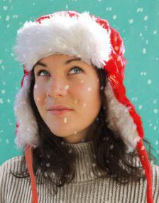 Kinder Weihnachtsmütze mit Plüsch