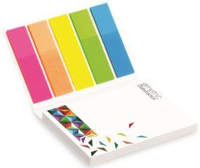 Haftnotizen Kombi-Set im Kartonumschlag auch mit Werbedruck