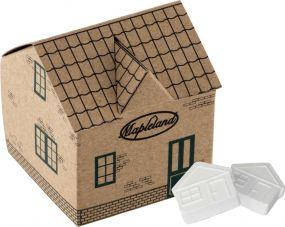 Haus mit Pfefferminz aus Kraftpapier