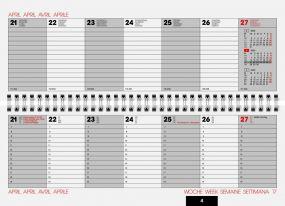 Tischquerkalender Modell 772 Balacron