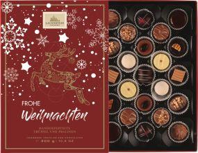 Weihnachtspräsent Trüffel und Pralinen-Auslese mit Einschieber, 300g als Werbeartikel
