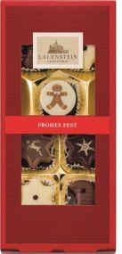 Pralinen Frohes Fest, 90g mit Alkohol