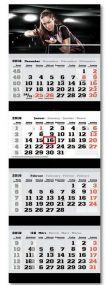 4-Monats-Wandkalender inkl. Logo-Druck