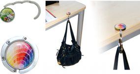 Taschenhalter mit Eco-Doming als Werbeartikel