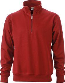 Arbeits Sweatshirt Half Zip als Werbeartikel