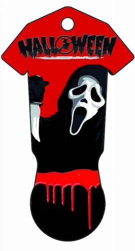Einkaufswagenchiphalter IN&OUT Halloween beidseitig als Werbeartikel