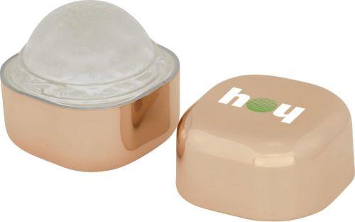 Lippenbalsam Rolli im metallischen Würfel als Werbeartikel