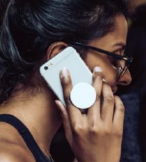 Popsocket Smartphonehalter mit individuellem Logodruck als Werbeartikel