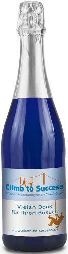 Sekt Riesling Flasche blau