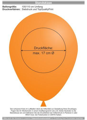 Luftballons - Natur Pur! 100/110 mit 1c-Siebdruck als Werbeartikel