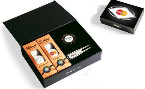 Titleist ProV1 Golfbälle Geschenkbox inkl. Logo als Werbeartikel
