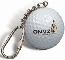 Schlüsselanhänger Golfball als Werbeartikel