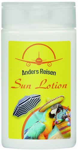 50 ml Flasche Sonnenlotion LSF 30 mit Etikettendruck als Werbeartikel