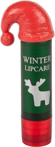 Lippenpflegestift LipNic mit Nikolausmütze als Werbeartikel