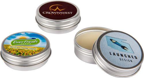 Lippenpflege Döschen LipJar Alu Label als Werbeartikel