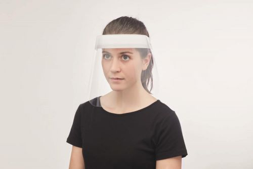 Gesichtsschutz aus PET als Werbeartikel