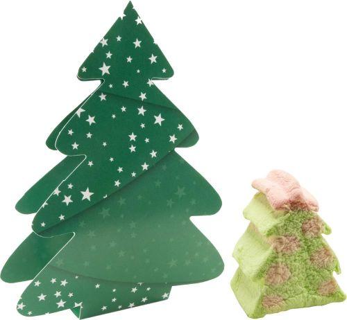 Klappkärtchen Süßer Weihnachtsbaum als Werbeartikel